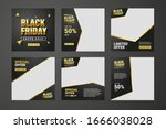 set of editable black friday... | Shutterstock .eps vector #1666038028