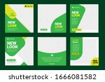 set of editable minimal square... | Shutterstock .eps vector #1666081582