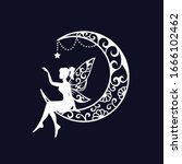 Fairy And Crescent Moon Cut...