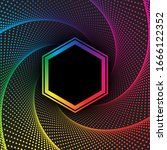 rainbow colors halftone dotted... | Shutterstock .eps vector #1666122352