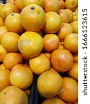 Organic And Fresh Oranges On...