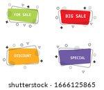 set of modern flat geometric... | Shutterstock .eps vector #1666125865