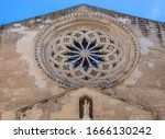 Close Up On A Large Rose Window ...