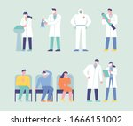 doctor characters to prevent... | Shutterstock .eps vector #1666151002