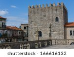 panoramic view of the porto... | Shutterstock . vector #166616132