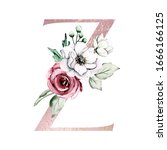 Letter Z  Botanical Pink And...