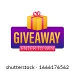 gift box icon design template.... | Shutterstock .eps vector #1666176562