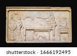 Marble Funerary Stele With A...