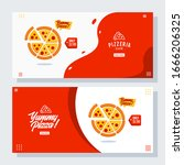 set of pizza pizzeria flyer...