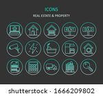 web icons. set of real estate...