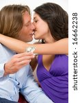 passionate kiss of a young... | Shutterstock . vector #16662238