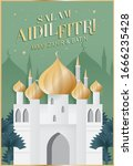 hari raya greetings design...   Shutterstock .eps vector #1666235428
