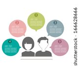 people icons with chat speech... | Shutterstock .eps vector #166628666