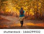 Hiker Girl In Beautiful Natural ...