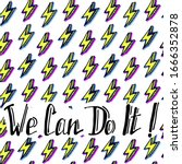 we can do it quote with... | Shutterstock .eps vector #1666352878