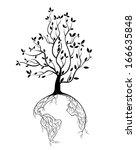 Globe Concept Tree Roots