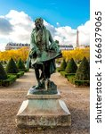 Small photo of Paris, France, November 2017: A statue of the French architect Jules Hardouin-Mansart in the landscaped garden of Les Invalides complex. Erected in 1908, sculptor Ernest Henri Dubois (1863-1930)