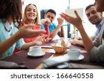 portrait of happy teenage... | Shutterstock . vector #166640558
