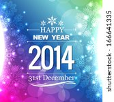 happy new year 2014 flyer style ... | Shutterstock .eps vector #166641335