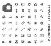 photography camera icons | Shutterstock .eps vector #166642118