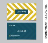 business card template ... | Shutterstock .eps vector #166642706