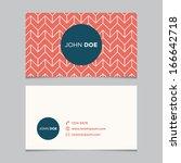 business card template ... | Shutterstock .eps vector #166642718