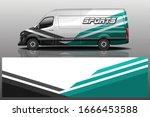 van car wrapping decal design | Shutterstock .eps vector #1666453588