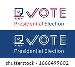 2020 united states of america... | Shutterstock .eps vector #1666499602