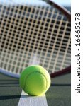 tennis ball and racquet | Shutterstock . vector #16665178