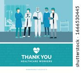 thank you brave healthcare... | Shutterstock .eps vector #1666530445