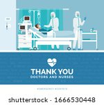 thank you doctors and nurses... | Shutterstock .eps vector #1666530448