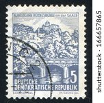 germany   circa 1961  stamp... | Shutterstock . vector #166657865