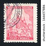 czechoslovakia   circa 1939 ...   Shutterstock . vector #166657886