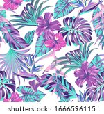 Vector Seamless Pattern Exotic  ...
