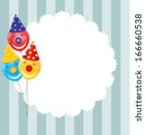color glossy balloons...   Shutterstock .eps vector #166660538