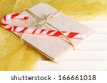christmas candy canes and... | Shutterstock . vector #166661018