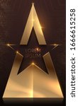 luxury gold star award template | Shutterstock .eps vector #1666615258