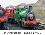 A Steam Train Pulling Into The...