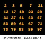 Prime Numbers On Black...