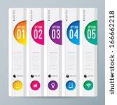 abstract 3d digital... | Shutterstock .eps vector #166662218