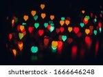 Celebration Bokeh Lights. Heart ...