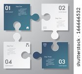 design clean number banners... | Shutterstock .eps vector #166666532