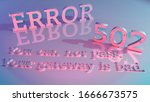 3d rendering of an error... | Shutterstock . vector #1666673575