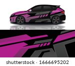 city car wrapping decal design   Shutterstock .eps vector #1666695202