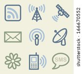 communication web icons  money... | Shutterstock .eps vector #166670552