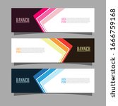 vector abstract design banner... | Shutterstock .eps vector #1666759168