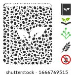 dotted mosaic based on flora... | Shutterstock .eps vector #1666769515