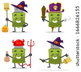vector illustration of mascot... | Shutterstock .eps vector #1666826155