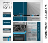 brochure and business cards... | Shutterstock .eps vector #166686575