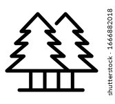 fir tree forest icon. outline...   Shutterstock .eps vector #1666882018